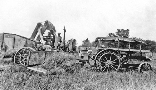 Ernest Albert Edwards' combine, 1938