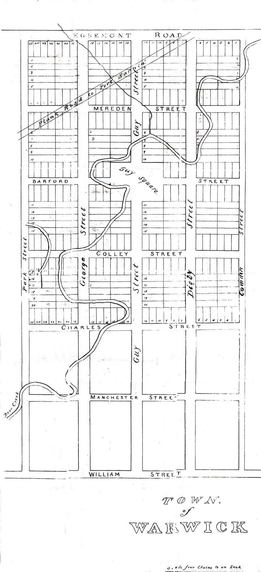Warwick Village map