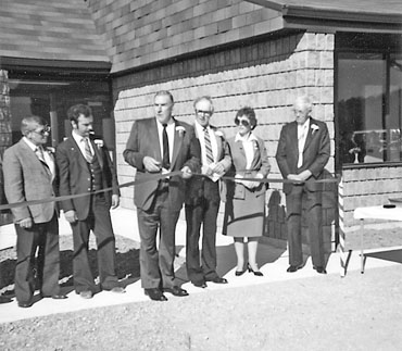 Opening of township office on Nauvoo Rd. 1982