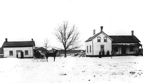 Fuller home on right, built 1887; Fuller home on left, built 1858