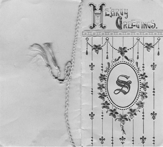 Christmas card front, 1917