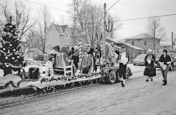 Rotary Club float in Watford Santa Claus parade, December 2003