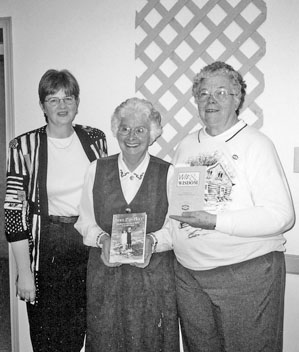 Donna Willer, Margaret Redmond, Maxine Miner, February 2001