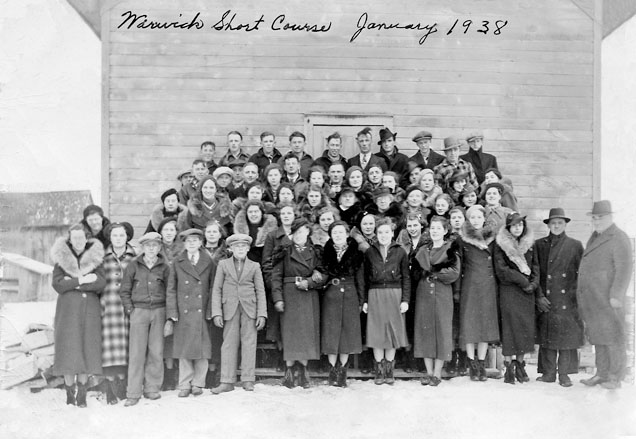 Department of Agriculture Short Course participants at the Warwick Orange Hall, January 27 1938.