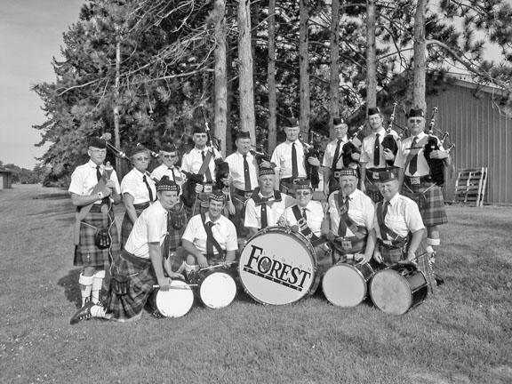 Forest Pipe Band, July 2004.