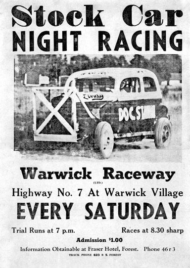 Stock Car Racing poster, Warwick Village