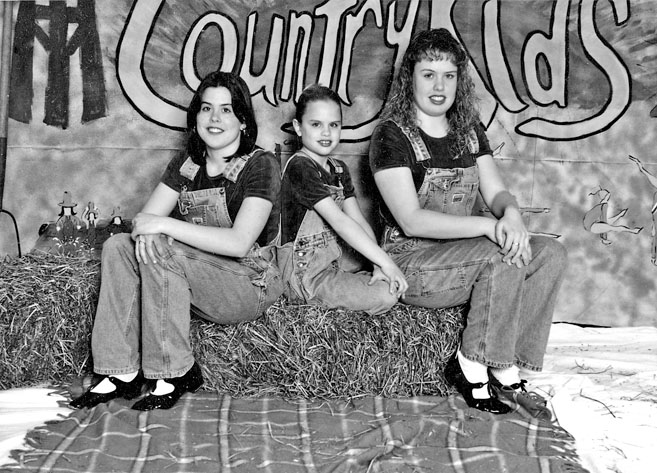 Watford Youth Activities Club: Tap Dancers: Stacey, Cindy, and Terri Bork, spring 1997