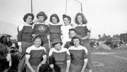 Arkona Girls softball team, 1947