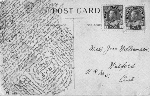 Circle postcard, c. 1920