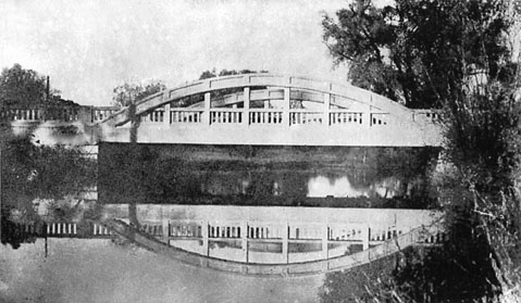 Bridge at Warwick Village, 1930: This bridge replaced the bridge seen in the above photo.