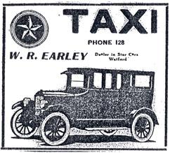 Earley Taxi, Watford, 1924
