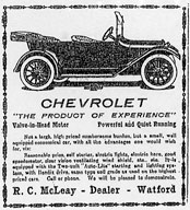 McLeay Chevrolet, Watford, 1916