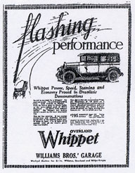 Overland Whippet advertisement, 1927