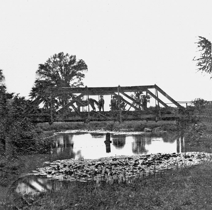 Wooden bridge over Bear Creek, Warwick Village