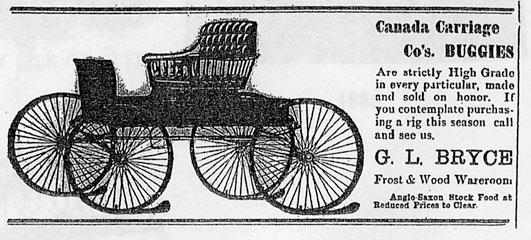 G.L. Bryce's Canada Carriage Co., 1906