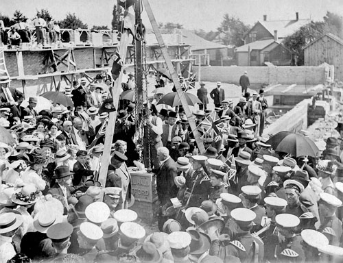 Laying cornerstone of Watford Drill Hall: A high point of Imperial devotion