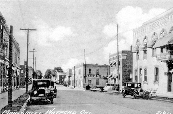 Main St. Watford, 1940s, east side looking north