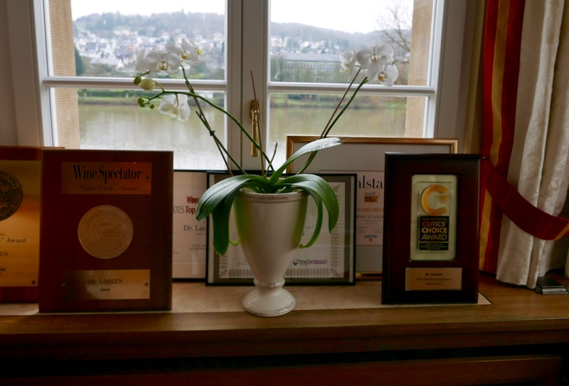 Ernst Loosen awards for his wines in Mosel, Germany