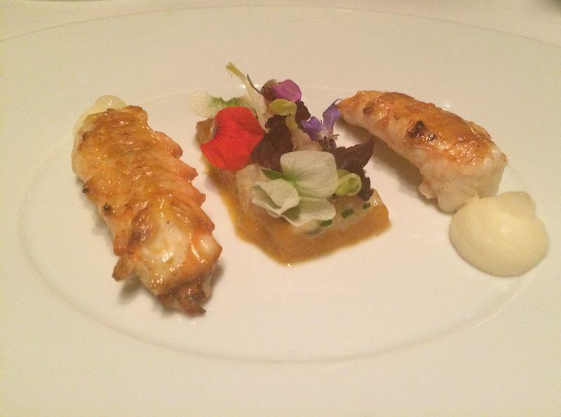 Michelin dish at La Reserve Ramatuelle