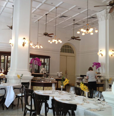 Tiffin Room At Singapore S Raffles Hotel La Muse Blue