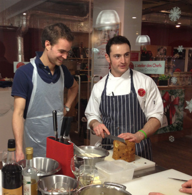 Cooking at L'Atelier des Chefs in London