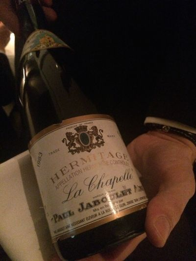 Hermitage wine Paul Jaboulet Annee