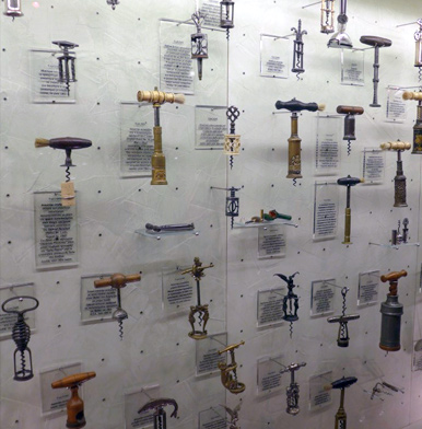 Impressive corkscrew collection at Gerovassiliou winery in Greece