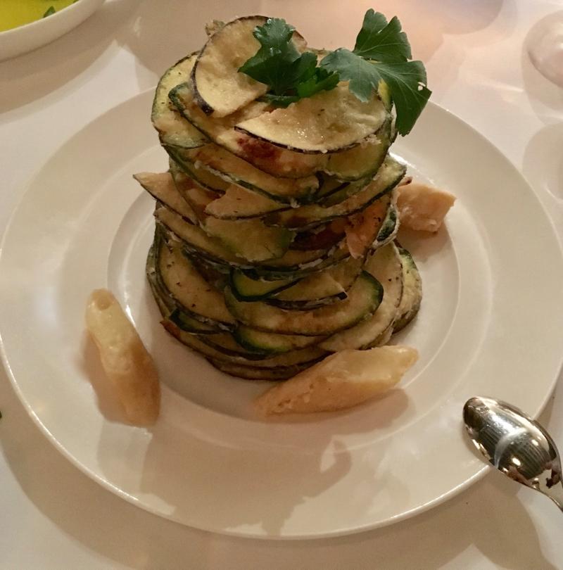 Greek food Milos zucchini