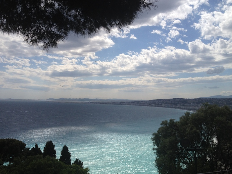 View of the Bay of the Angles in Nice