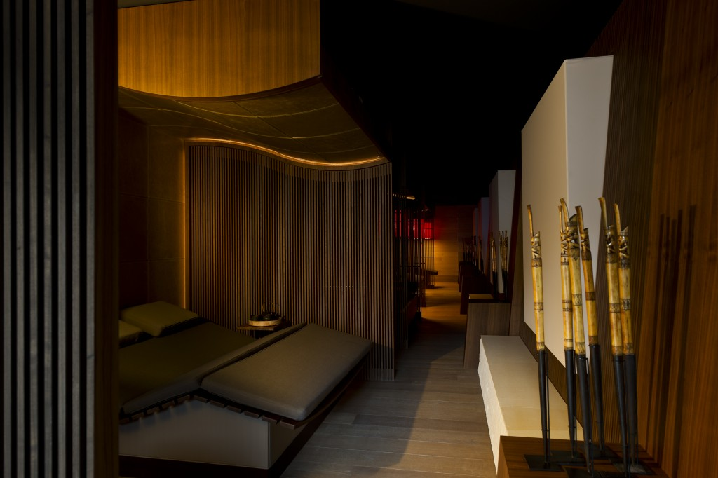 Relaxation Lounge at Chedi spa hotel Andermat