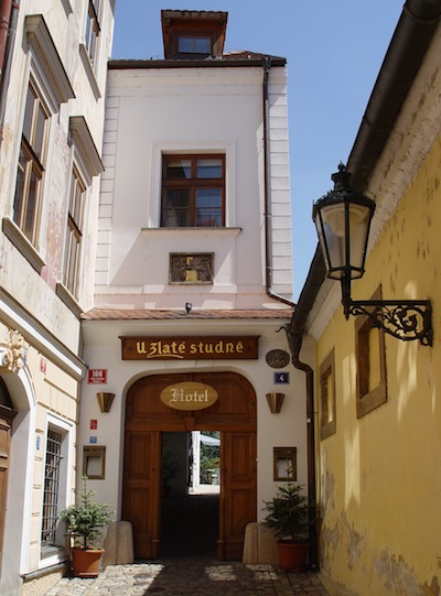 Entrance to Golden Well Hotel Prague