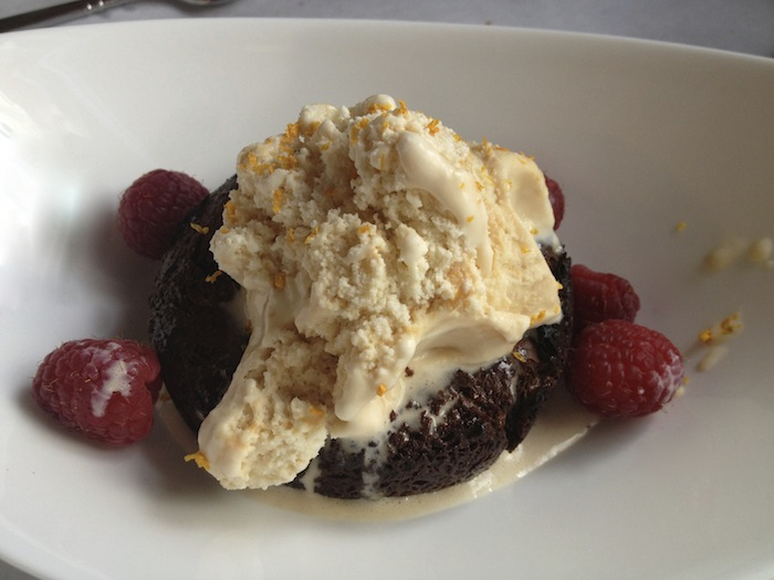 Chocolate cake at Cloud 9 Alpine Bistro