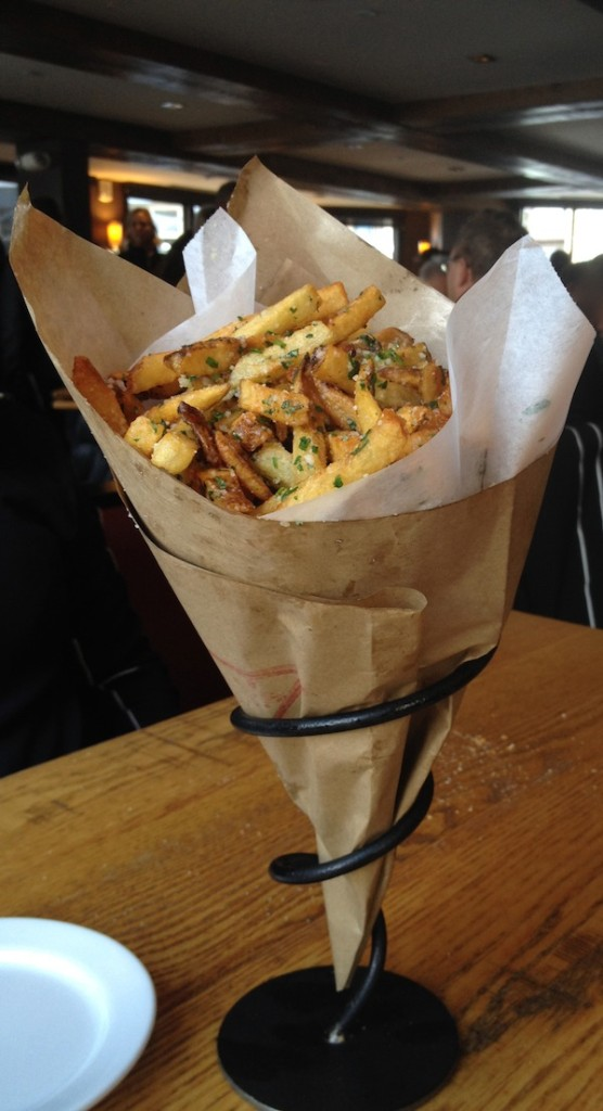 Aspen dining indulgence: Truffled french fries