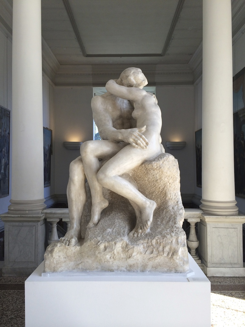 The kiss sculpture by Rodin