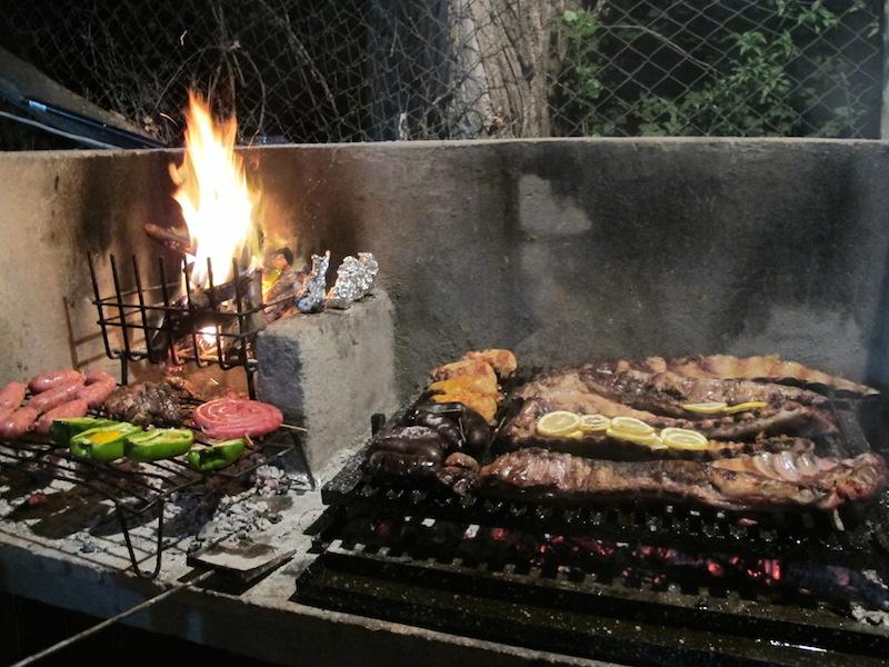 Argentine assado grilled meat