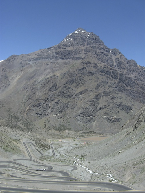 Road Serpentines in the Andes mountains