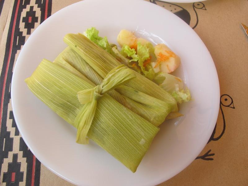 Snacks in Argentina corn tamales
