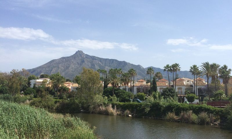 Rocky mountains behind Marbella