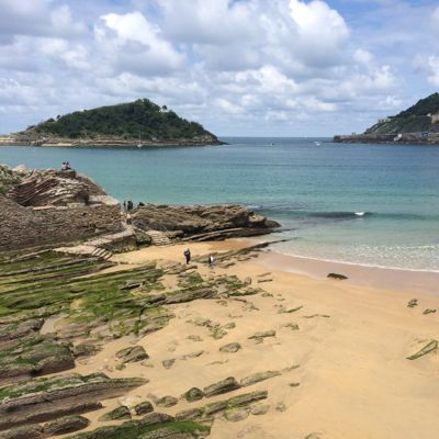 Sandy beach in San Sebastian