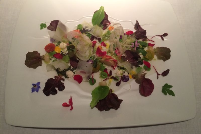 Three Michelin star dinner at Martin Beratasegui