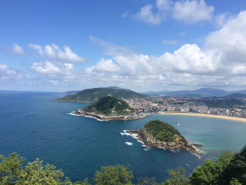 Sea view over San Sebastian