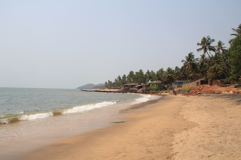 Sandy beach in Goa