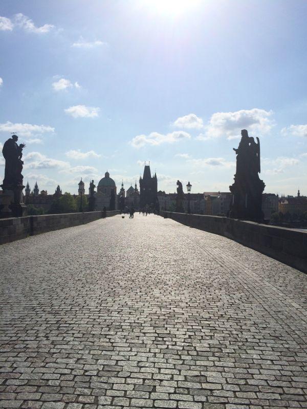 Old Charles Bridge in Prague