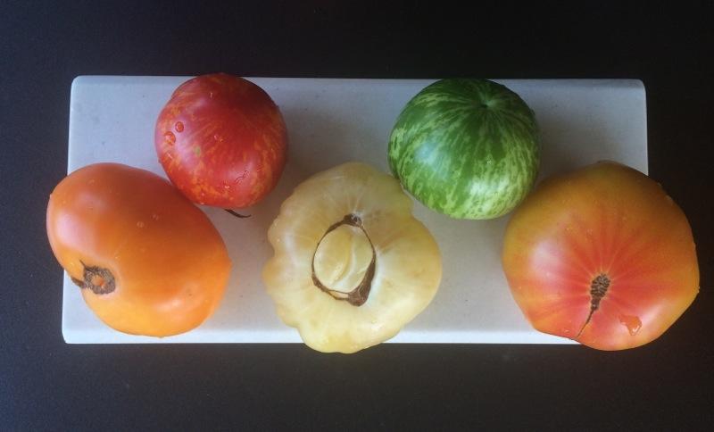 "Heirloom tomatoes a la ""ancienne"""