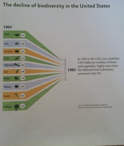 Chart of decline in biodiversity