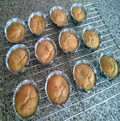 Baking healthier breakfast banana muffins