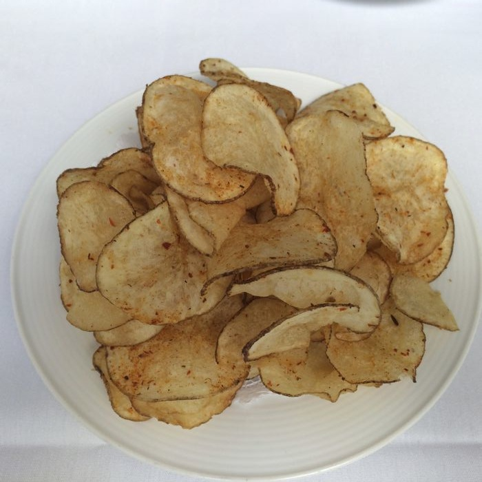freshly baked potato chips