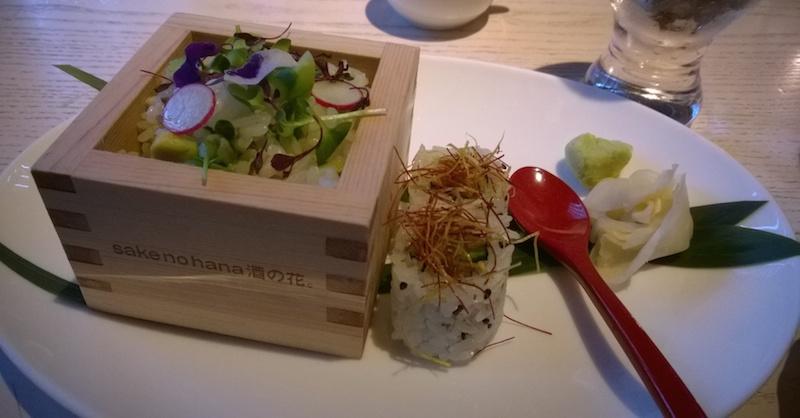 Japanese vegetarian sushi
