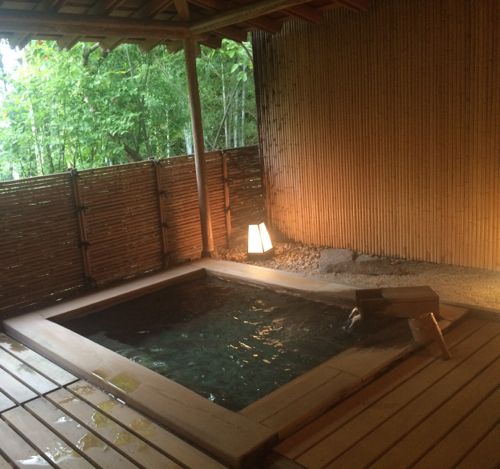 Japanese hot spring bath