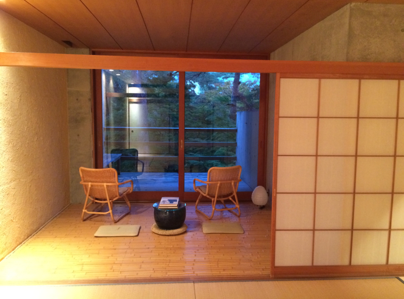 tatami room in traditional Japanese style